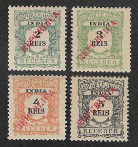 J23-J26,Mint Portuguese India