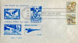 C92A The Wright Brothers Dayton, Ohio Story of Aviation on Stamps