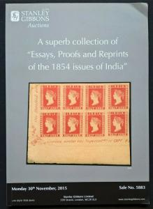 Auction Catalogue ESSAYS PROOFS & REPRINTS of the 1854 Issues of INDIA