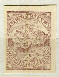 GUATEMALA; 1870s early classic TRIAL ESSAY Imperf mint value
