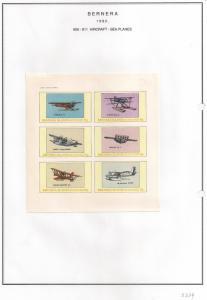 SCOTLAND - BERNERA - 1982 - Sea Planes - 6v Imperf Sheet - MLH