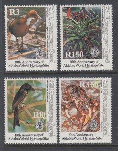Seychelles Zil Elwannyen Sesel 188-191 Birds MNH VF