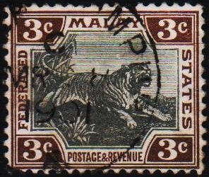 Malaya(Federated Malay States). 1900 3c S.G.16b Fine Used