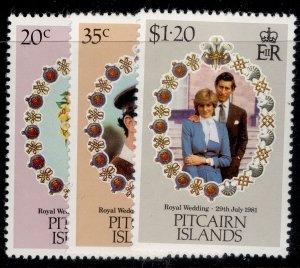 PITCAIRN ISLANDS QEII SG219-221, complete set, NH MINT.