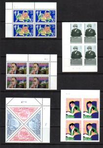 Five 32 Cent US Plate Blocks of 4