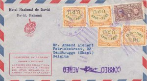 Panama 1c Curie Postal Tax and 5c Airplane Over Map of Panama Overprinted 187...