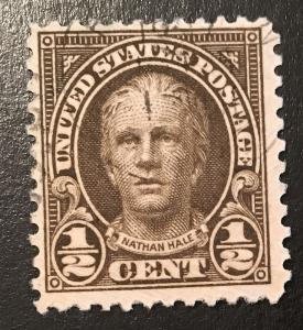 551 1922 Americans Series, 11x11 perf., Circ. single, Vic's Stamp Stash