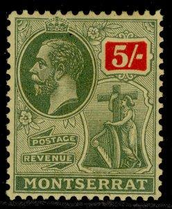 MONTSERRAT GV SG83, 5s green & red/pale yellow, M MINT. Cat £38.