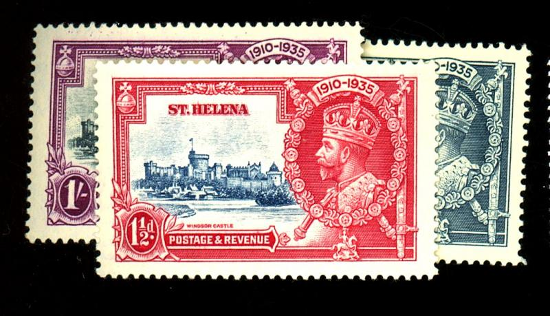 St Helena #111-114 MINT VF OG LH Cat $31
