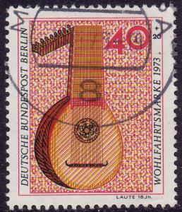 Germany Berlin - 1973 - Scott #9NB103 - used - Music Lute
