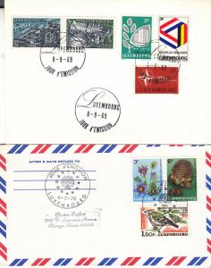 Luxembourg Two Uncacheted FDC 1970