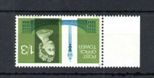 1/3 PO TOWER (NON-PHOSPHOR) UNMOUNTED MINT WITH WATERMARK INVERTED Cat £175