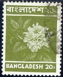 Hibiscus Rosenensis, Bangladesh stamp SC#97 used