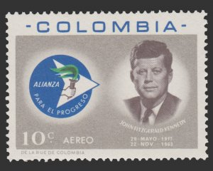 AIRMAIL STAMP FROM COLOMBIA 1963. SCOTT # C455. UNUSED