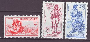 J22220 Jlstamps 1941 guadeloupe mnh set #b9-10 vichy issue