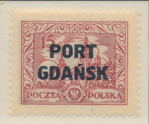 Poland (Offices In Danzig/Port Gdansk) Stamp Scott #1K13, Mint Lightly Hinged...