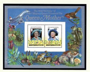 Montserrat 563 MNH 1985 Queen Mother Birthday S/S