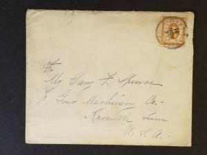 1899 Yokohama Japan to Knoxville Tennessee USA Vintage Commercial Cover