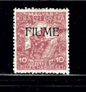 Fiume B1 MH 1918 overprint