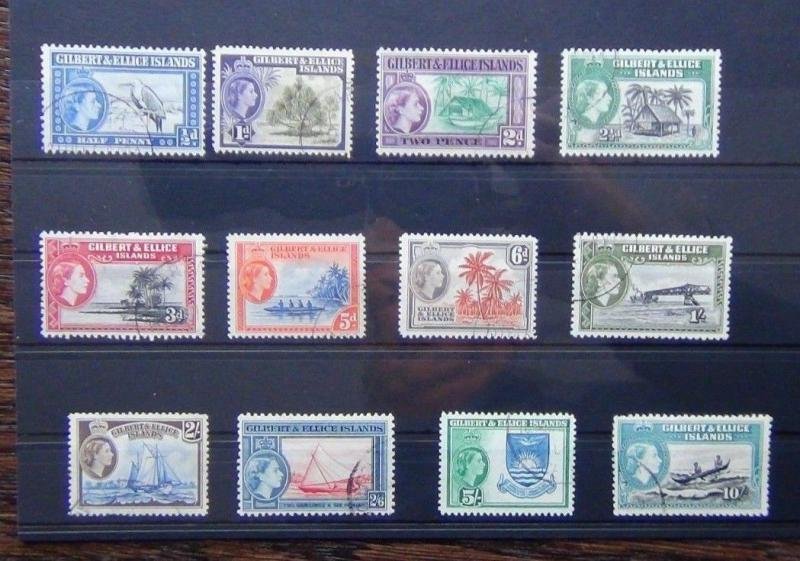 Gilbert & Ellice Islands 1956 - 1962 set to 10s VFU SG64 - SG75