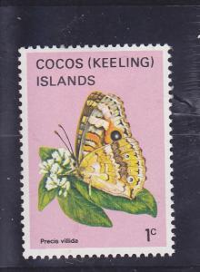 Cocos Islands  Scott#  87  MH