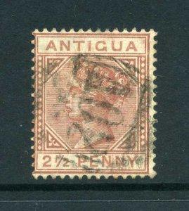 Antigua 1882 QV 2½d red-brown wmk Crown CA SG 22 used CV £55