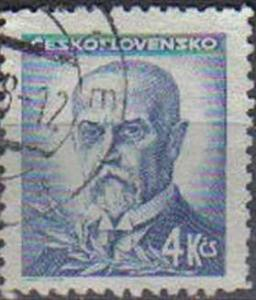 CZECHOSLOVAKIA, 1945 used 4k, Presidents