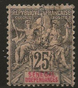 Senegal (1892)  - Scott # 45,  Used