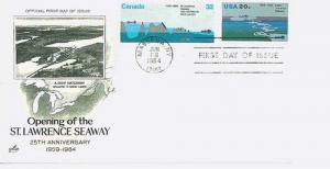 2091 St.Lawrence Combo With Canadian Stamp,Art Craft