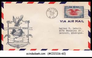 USA - 1939 U.S. AIR MAIL Experimental Pick-up WESTON FIRST FLIGHT COVER