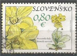 SLOVAKIA, 2010, used 0.80, Flowers Mi:SK 644