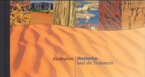 UN Vienna 1999 MNH Sc #252 Booklet Australia: World Heritage and the Dreamtime