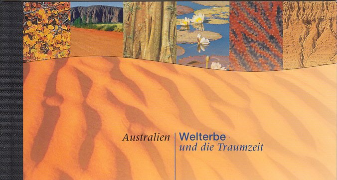 UN Vienna 1999 MNH Sc #252 Booklet Australia: World Heritage and the Dreamtime