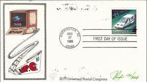 Beautiful Pugh Designed C123 FDC Future Mail Hovercraft...Only 204 created