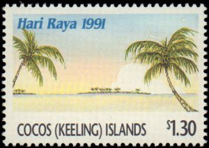Cocos Islands #241-243, Complete Set(3), 1991, Never Hinged