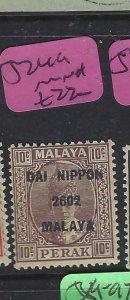 MALAYA JAPANESE OCCUPATION PERAK (P1508B) 10C DN   SG J249   MNH