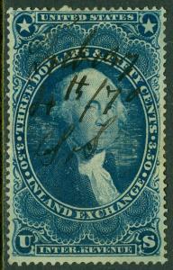 USA : 1863. Scott #R87c Very Fine, Used. Catalog $70.00.