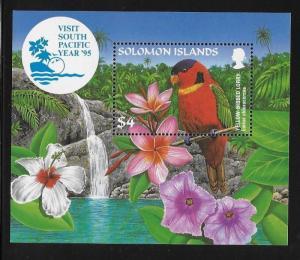 Solomon Islands 1995 Visit South Pacific Year Parrot birds S/S MNH