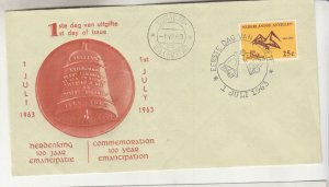 NETHERLANDS ANTILLES,1963 Abolition of Slavery 25c., First Day cover