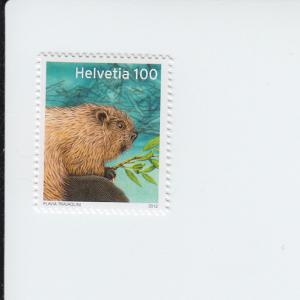 2012 Switzerland Beaver (Scott 1448) MNH