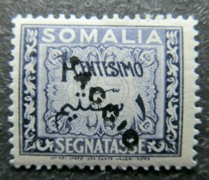 Somalia AFIS Essay Saggio Proof Segnatasse 1c MNH** A4P39F7
