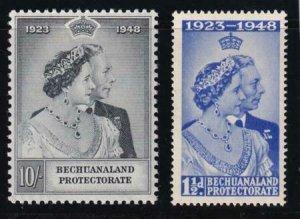Bechuanaland 1948 SC 147-148 MLH Set Silver Wedding Issue