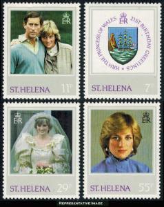 Saint Helena Scott 372-375 Mint never hinged.