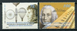 North Macedonia 2019 MNH Gargerin Anders Celsius 2v Set People Science Stamps