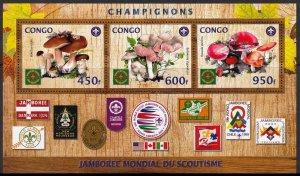 CONGO MUSHROOMS SCOUTS JAMBOREE USA FUNGI CHAMPIGNONS PILZE HONGOS
