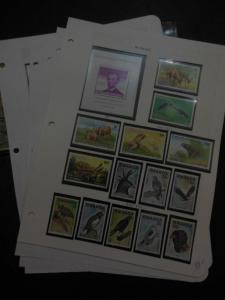 EDW1949SELL : RWANDA All VFMNH collection of Birds & Animals. Scott Catalog $206