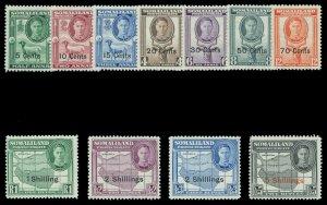 Somaliland 1951 KGVI set complete superb MNH. SG 125-135. Sc 116-126.