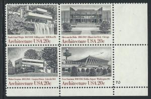 UNITED STATES SC# 2022A VF MNH 1982 Pl#2 LR B/4