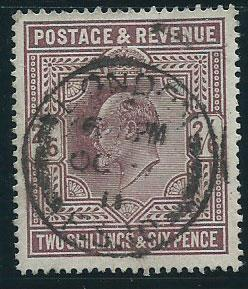 GB Edward VII SG 317  VFU nice cancel well centered at 20%