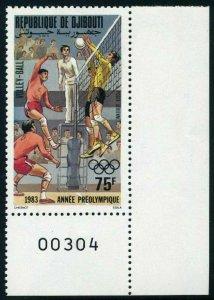 Djibouti C175,MNH.Michel 361. Pre-Olympics Los Angeles-1984.Volleyball,